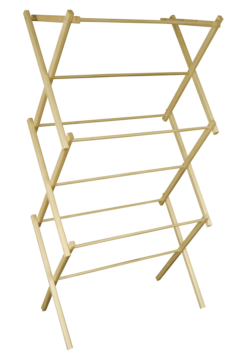 Mid Size Portable Wooden Clothes Drying Rack