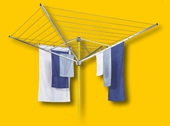 Deluxe Rotary Outdoor Umbrella Clothesline