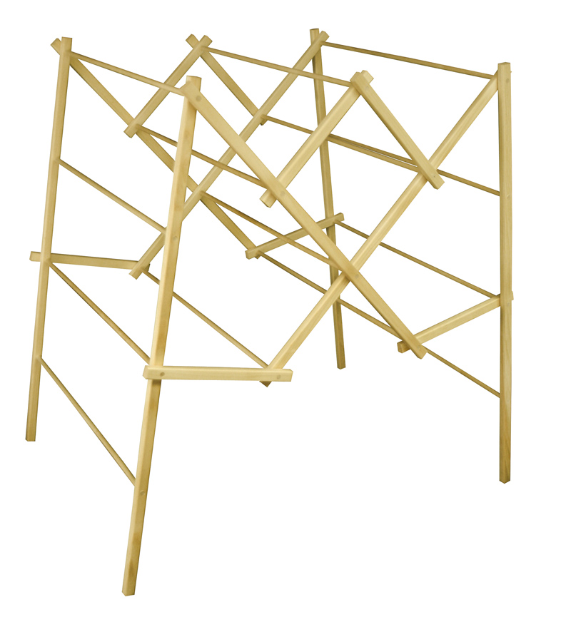 Large Portable Wooden Clothes Drying Rack Clotheslines Com