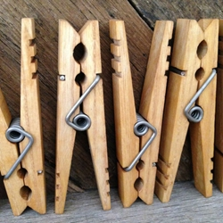 American Handmade Wooden Clothespins