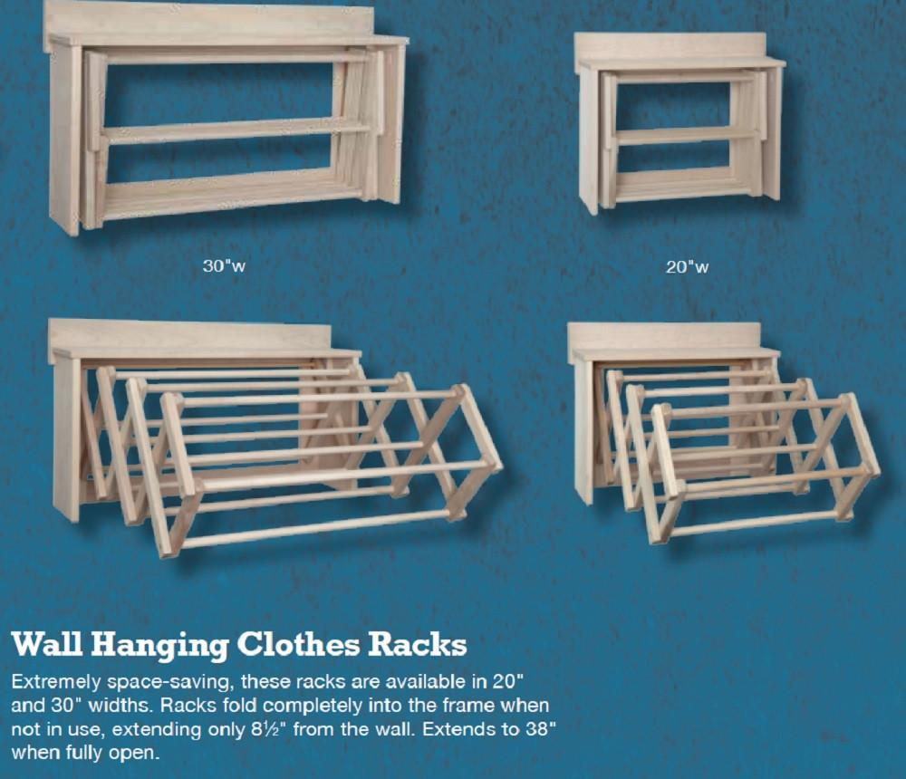 Expandable Wall Mounted Wooden Drying Rack Clotheslines Com