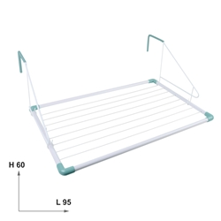 Handrail Indoor/Outdoor Drying Rack Clotheshorse