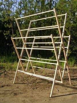 large amish wooden clothes drying rack large