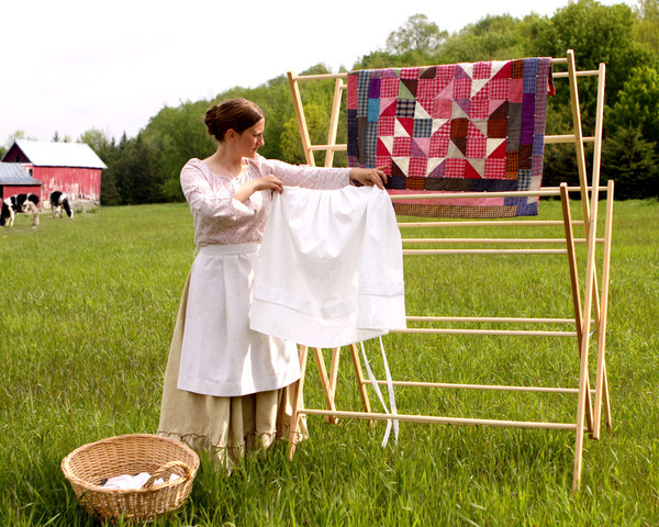 Amish wooden clothes drying racks for Drying cabinets for clothes