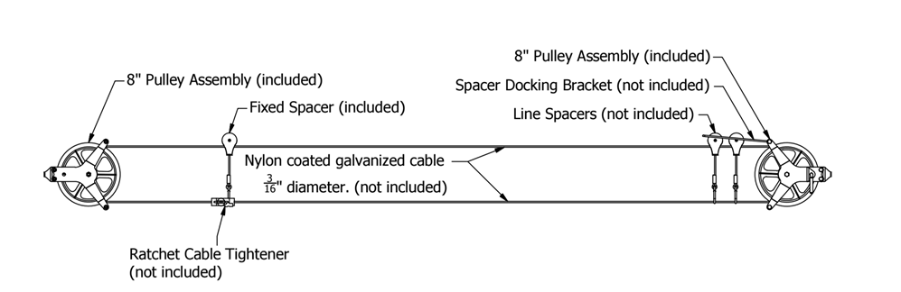 how to fix a washing line pulley system