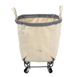 Round Natural Canvas Portable Laundry Hampers