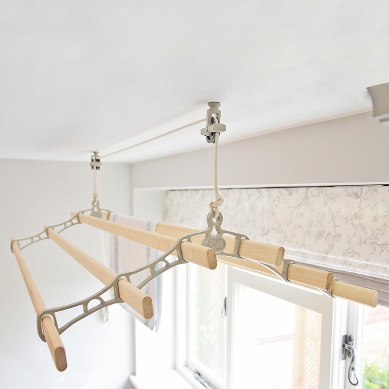 Six Lath Victorian Ceiling Clothes Airers Clotheslines Com
