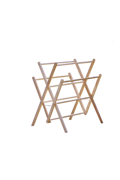 Small amish wooden clothes drying rack - Laundry drying racks for small spaces property ...