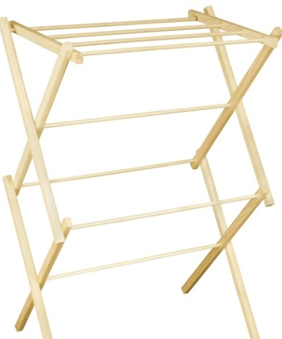 Small Portable Wooden Clothes Drying Rack