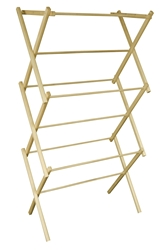 Mid-Size Portable Wooden Clothes Drying Rack