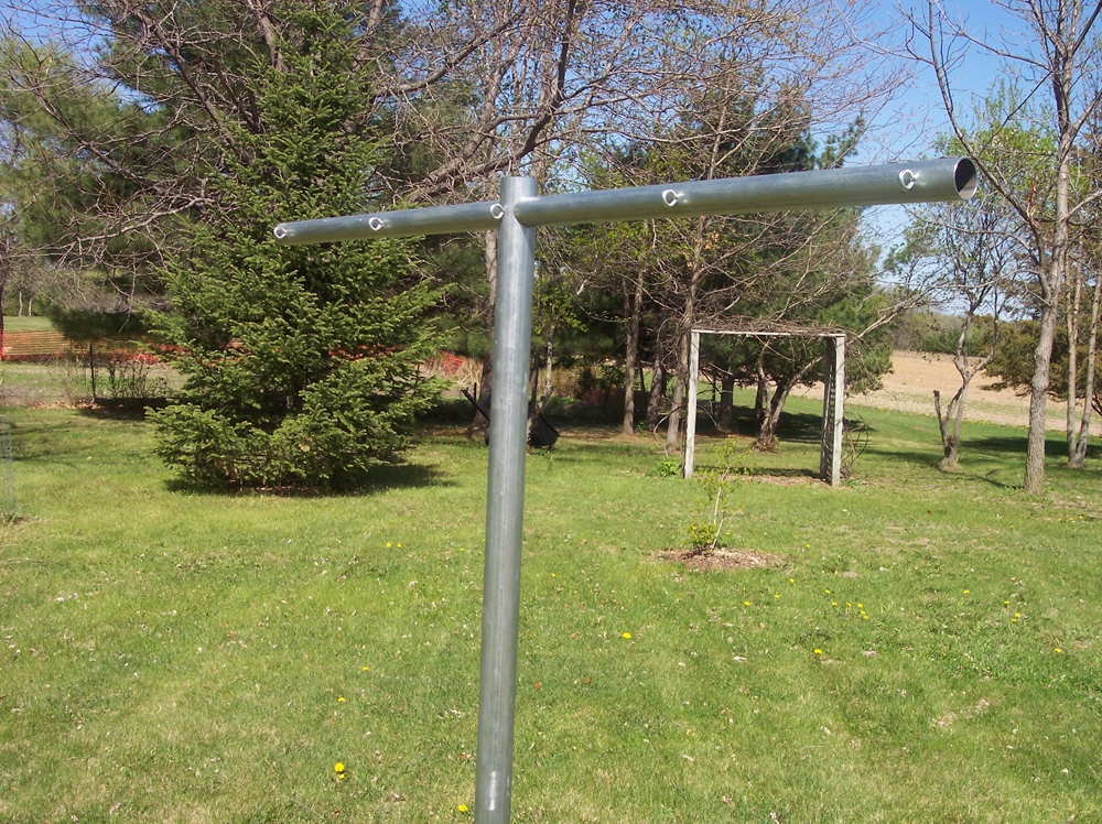 Old Fashioned Clothes Line Poles