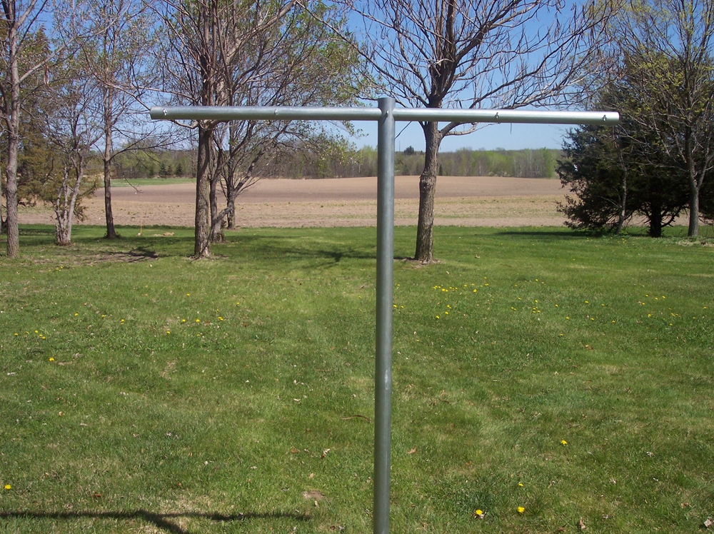 Heavy Duty T Post Clothesline Poles Clotheslines Com