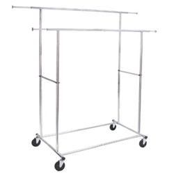 Commercial Folding Double Garment Rack