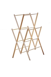 Medium Amish Wooden Clothes Drying Rack